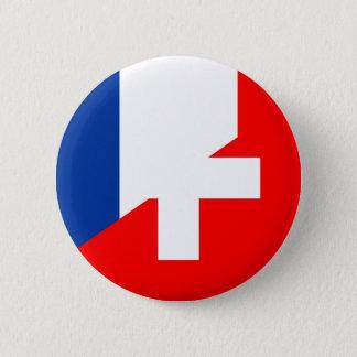 van het de vlagland van Zwitserland Frankrijk het Ronde Button 5,7 Cm