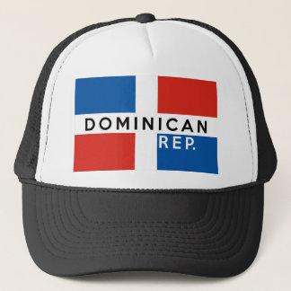 van het de vlagsymbool van het Dominicaanse Trucker Pet