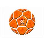 Van het de vlagVoetbal van Nederland Nederlandse Wenskaart