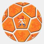 Van het de vlagVoetbal van Nederland Nederlandse Ronde Stickers