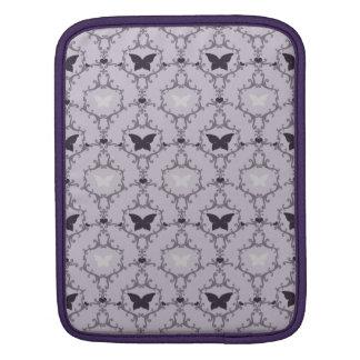 Van het de vlinderdamast van de lavendel paars de sleeve voor iPad
