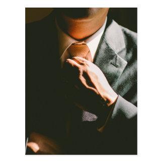 Van het de zakenmanstropdas van het kostuum de briefkaart