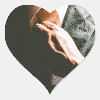 Van het de zakenmanstropdas van het kostuum de hart sticker