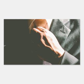 Van het de zakenmanstropdas van het kostuum de rechthoekvormige sticker