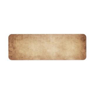 Van het Document van het vintage Perkament Antiek Etiket