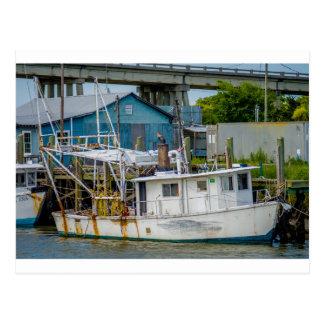 van het eilandGeorgië van vissersboottybee de Briefkaart