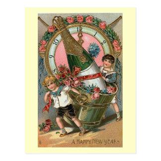 """Van het """"gelukkige Nieuwjaar"""" de Wijnoogst Briefkaart"""