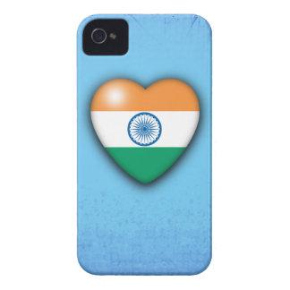 Van het Hart van de Vlag van India lichtblauwe iPhone 4 Hoesje
