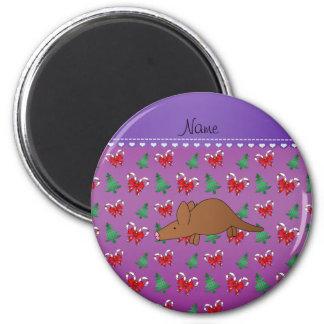Van het het aardvarken de paarse snoep van de naam ronde magneet 5,7 cm