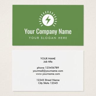 Van het het bedrijflogo van de elektricien het visitekaartjes