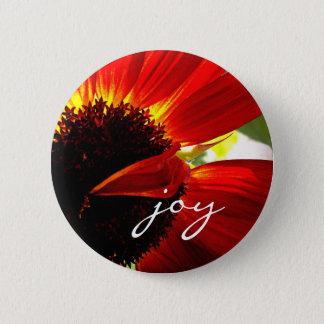 Van het het citaat de rode oranje madeliefje van ronde button 5,7 cm