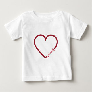 Van het het hart minimalistic ontwerp van de baby t shirts