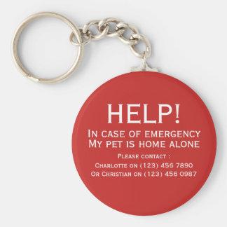 Van het het huisdierenhuis van de hulp alleen sleutelhanger