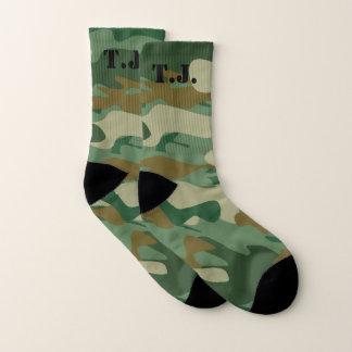 Van het het monogram de groene leger van de douane sokken