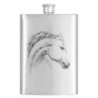 Van het het portretpotlood van het paard de Fles Heupfles