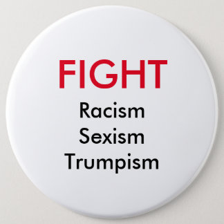Van het het racismeseksisme van de strijd de knoop ronde button 6,0 cm