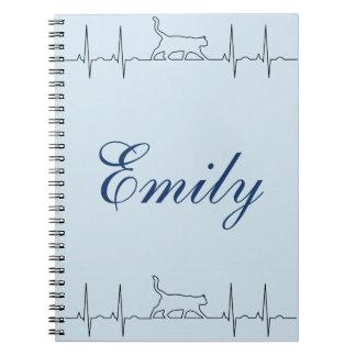 Van het het ritmeelectrocardiogram van het hart de ringband notitieboek