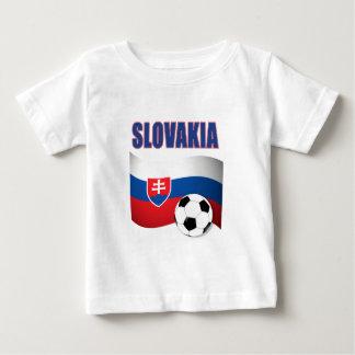van het het voetbalfootball van Slowakije de Baby T Shirts