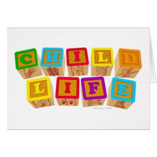"""Van het kind het Leven """"Blokken"""" Notecards Briefkaarten 0"""