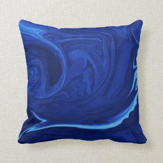 Van het kobalt blauwe Geweven Met de hand gemaakt Sierkussen