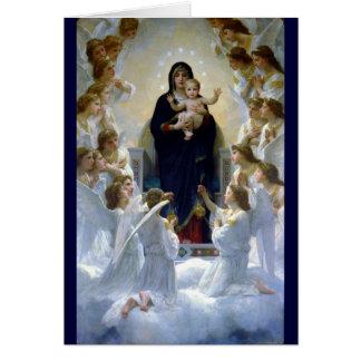 Van het madonababy van engelen Christelijke de Kaart