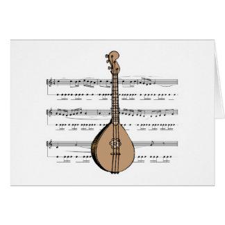 van het mandoline luit en blad muziek briefkaarten 0