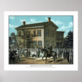Van het Naar huis terug:keren van Abraham Lincoln Poster