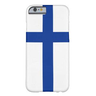 van het suomiland van Finland de vlaghoesje Barely There iPhone 6 Hoesje
