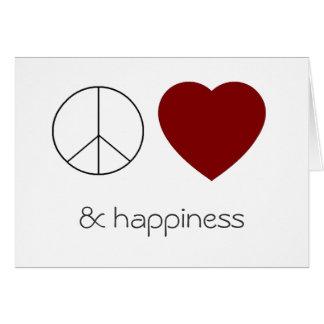van het vredes liefde & geluk kaart