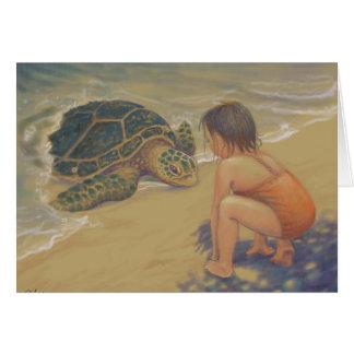 Van Honu (de Groene Schildpad van het Zee) de Briefkaarten 0