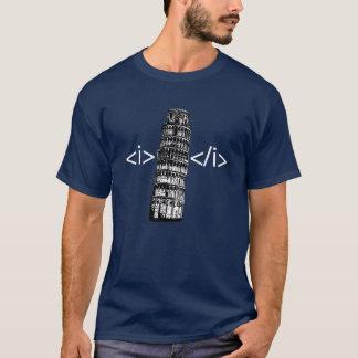 Van HTML de Cursieve (Leunende Toren van Pisa) T Shirt