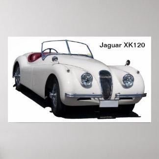 Van Jaguar Xk120- Poster