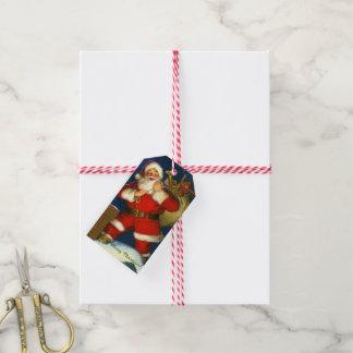Van Kerstman de Vakantie van Kerstmis van Naam 10 Cadeaulabel