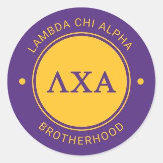 Van lambda het Alpha- | Kenteken van Chi Ronde Sticker