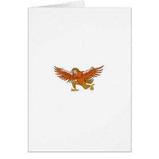 Van Lleu de Uitgespreide Eagle Cartoon van Llaw Briefkaarten 0