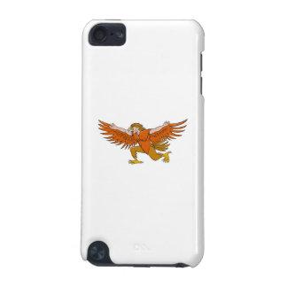 Van Lleu de Uitgespreide Eagle Cartoon van Llaw iPod Touch 5G Hoesje
