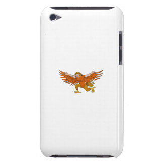 Van Lleu de Uitgespreide Eagle Cartoon van Llaw iPod Touch Hoesje