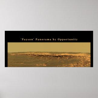 """Van Mars het """"Payson"""" Panorama door Kans Poster"""