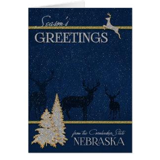 van Nebraska Kerstmis van de Staat Cornhusker Kaart