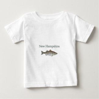 Van Newhampshire (gestreepte baarzen) Baby T Shirts