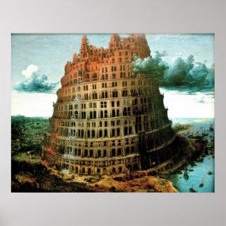 """Van Pieter Bruegel's de """"Weinig"""" Toren van Babel Poster"""