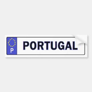 Van Portugal de Sticker van de EU- Vergunning Bumpersticker
