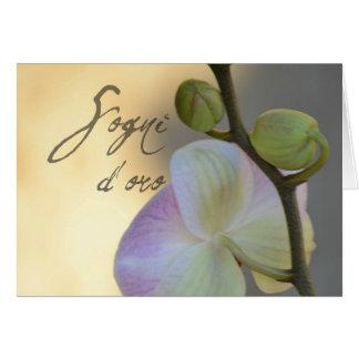 Van Sogni d'oro (zoete dromen) de orchidee Kaart