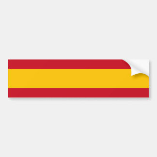 Van Spanje/de Spaanse (Burgerlijke) Vlag Bumpersticker