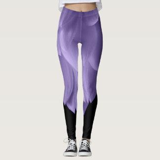 Van ultraviolette de paarse zwarte leggings