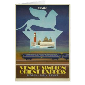 Van Venetië Simplon (Uitdrukkelijk Oosten) de Wenskaart