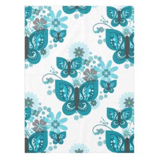 Van vlinders & van Bloemen (het blauwe) Tafelkleed