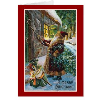"""Van """"vrolijke Kerstmis"""" Vintage Kerstmis Kaart"""