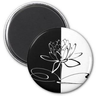 Van Yin de Zwarte Witte Lotus Bloesem van Yang Magneet