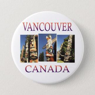 Vancouver Canada Ronde Button 7,6 Cm